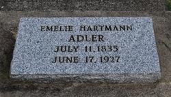 Emelie Teressa <I>Hartmann</I> Adler