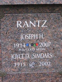 Joyce D Simdars Rantz 1915 2002 Find A Grave Memorial