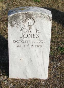 Ada H Jones