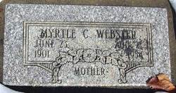 Myrtle Amanda <I>Cook</I> Webster