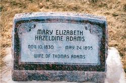Mary Elizabeth <I>Hazeldine</I> Adams