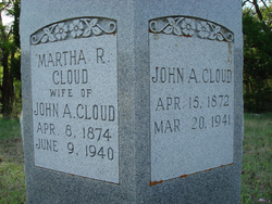 Martha Rachel <I>Adams</I> Cloud