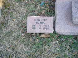 Bettie <I>Earp</I> Adams