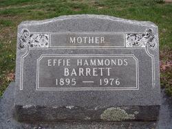 Effie <I>Hammonds</I> Barrett