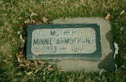 """Wilhelmina Kirsten """"Minnie"""" <I>Jensen</I> Armstrong"""