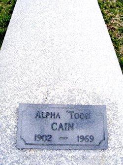 Alpha <I>Todd</I> Cain