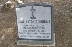 Jose Antonio Yorba, I