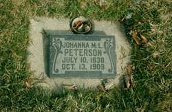 Johanna Matilda <I>Larson</I> Peterson