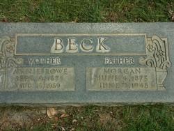 Annie <I>Rowe</I> Beck