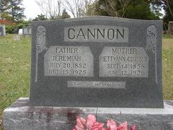Hetty Ann <I>Guthrie</I> Cannon