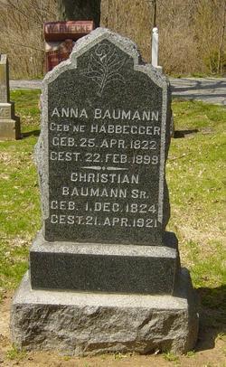 Anna <I>Habbegger</I> Baumann