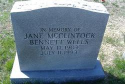 Jane McClintick <I>Bennett</I> Wells