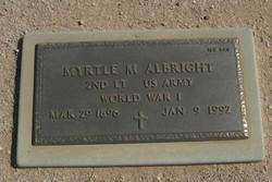 Myrtle M Albright