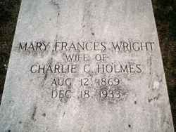 Mary Frances <I>Wright</I> Holmes