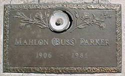 """Mahlon B """"Buss"""" Parker"""