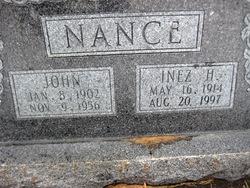 Inez Beatrice <I>Holland</I> Nance