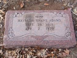 Maybeth <I>Evans</I> Adams