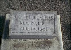 """Elizabeth """"Bettie"""" <I>Luke</I> Adams"""