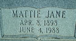Mattie Jane <I>Lane</I> Chance