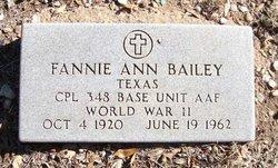 Fannie Ann Bailey