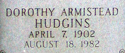 Dorothy Mae <I>Armistead</I> Hudgins
