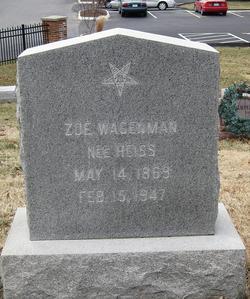 Zoe <I>Heiss</I> Wagenman