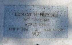 Pvt Ernest Henry Petzold