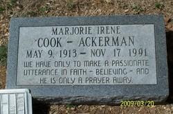 Marjorie Irene <I>Cook</I> Ackerman