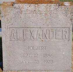 Holbert Alexander