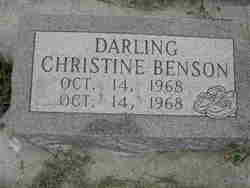 Darling Christine Benson