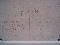 Sarah Caroline <I>Dabbs</I> Allen