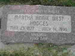 Martha Annie <I>West</I> Hodges