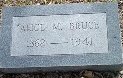 Alice M <I>Earp</I> Bruce