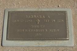 Barbara A Albin