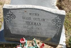 Bessie E H <I>Outlaw</I> Hickman