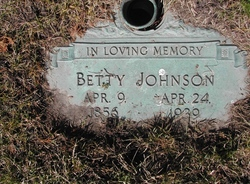 Betty <I>Johnston</I> Johnson