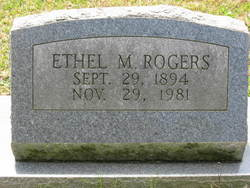 Ethel M Rogers