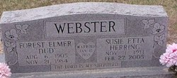 "Susie Etta ""Aunt Susie"" <I>Herring</I> Webster"