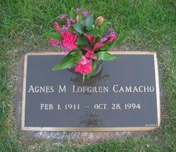 Agnes M <I>Lofgren</I> Camacho