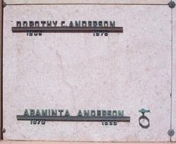 "Araminta ""Minta"" <I>Miller</I> Anderson"