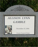 Allison Lynn   Infant Gamble