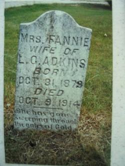 Fannie H <I>Farris</I> Adkins