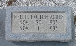 Nellie <I>Holton</I> Acree Hunter
