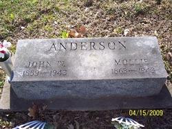 "Mary Susan ""Mollie"" <I>Stevens</I> Anderson"