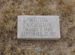 Matilda Ann <I>Wilkinson</I> Nicholson