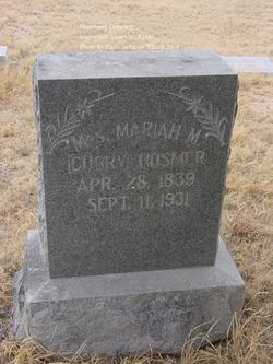Mariah M <I>Tower</I> Curry Hosmer