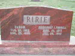 Margaret Jane <I>Farrell</I> Ririe