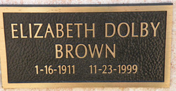 Elizabeth <I>Dolby</I> Brown