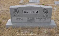 """Wilmer Robert """"Dee"""" Balkum"""