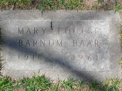 Mary Louise <I>Barnum</I> Baar